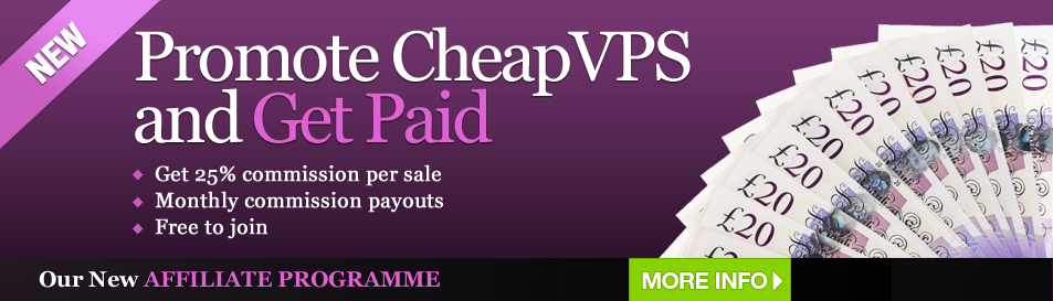 Cheap VPS - Join our Affliates program