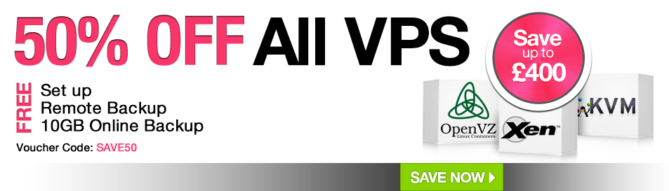 50% off All Annual VPS in the CheapVPS Sale